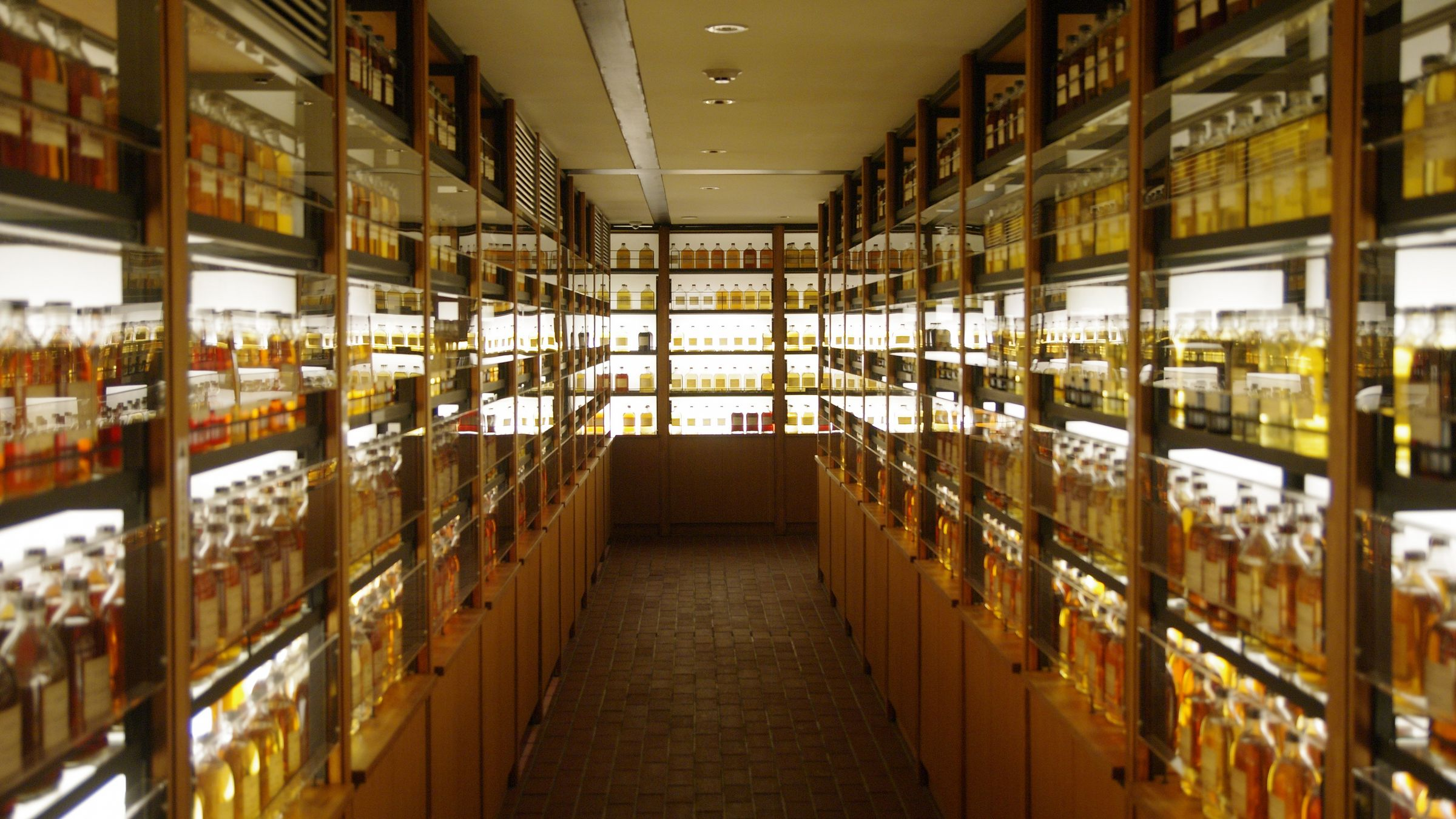 Raw Whisky Collection for Blending at Yamazaki Distillery (Tourist Show Room); 2018