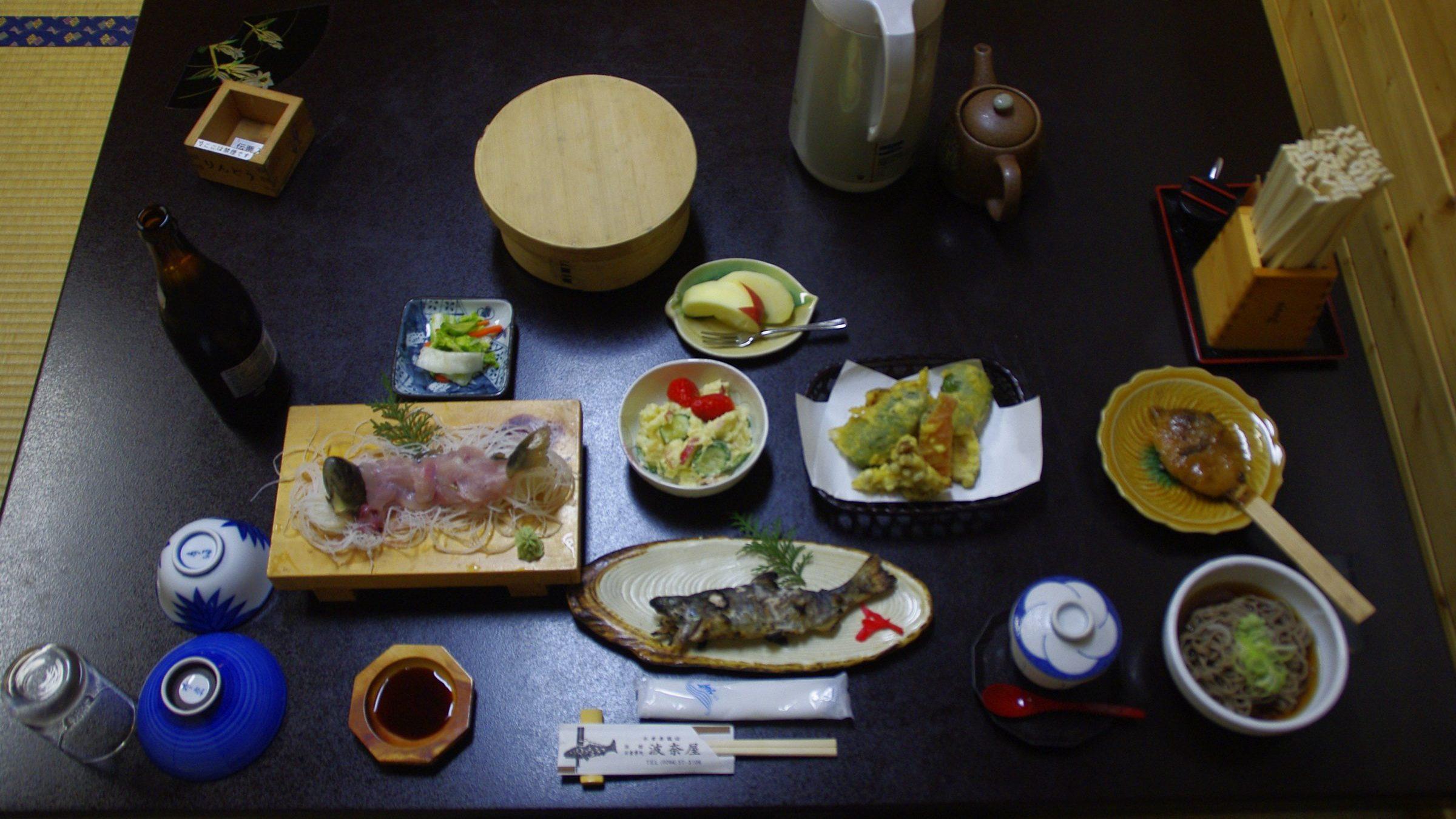 Hanaya, Tsumago, Abendessen (übernachtet in 2012)